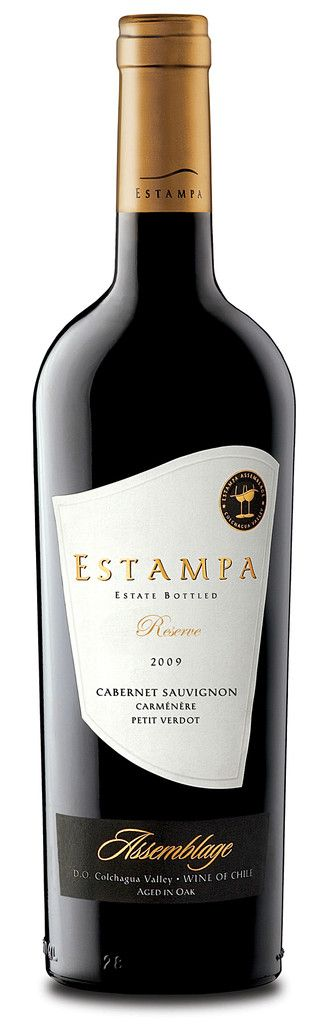 Estampa Reserve Cabernet Sauvignon 2010. 68% Cabernet Sauvignon, 24% Carmenère, 8% Petit Verdot. Grapes from Estampa and Estación vineyards with some Marchigüe fruit. 85%  aged for 10 months in 80% French oak and 20% American oak, new and one year, the remaining 15% in stainless steel. Dark purple colour, leafy aromas with bacon fat, on the palate rich cassis with tobacco notes, excellent length.