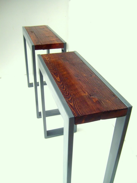 Solo Twins Console tables SALE FREE SHIPPING by Nyendesigns, $845.00