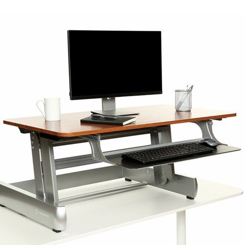 custom standing desk kidney shaped mid. inmovement elevate desktop dt2 place on top of your existing desk to instantly transform custom standing kidney shaped mid i