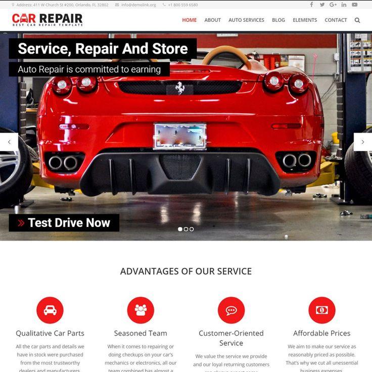 Best 25 car repair service ideas on pinterest car repair car repair auto mechanic wordpress theme httpscodegrape solutioingenieria Choice Image