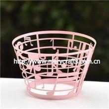 """papier handwerk hochzeit liefert"""" Musik"""" lasergeschnitten Kuchenverpackungen in rosa für Hochzeitsgesellschaft liefert(China (Mainland))"""