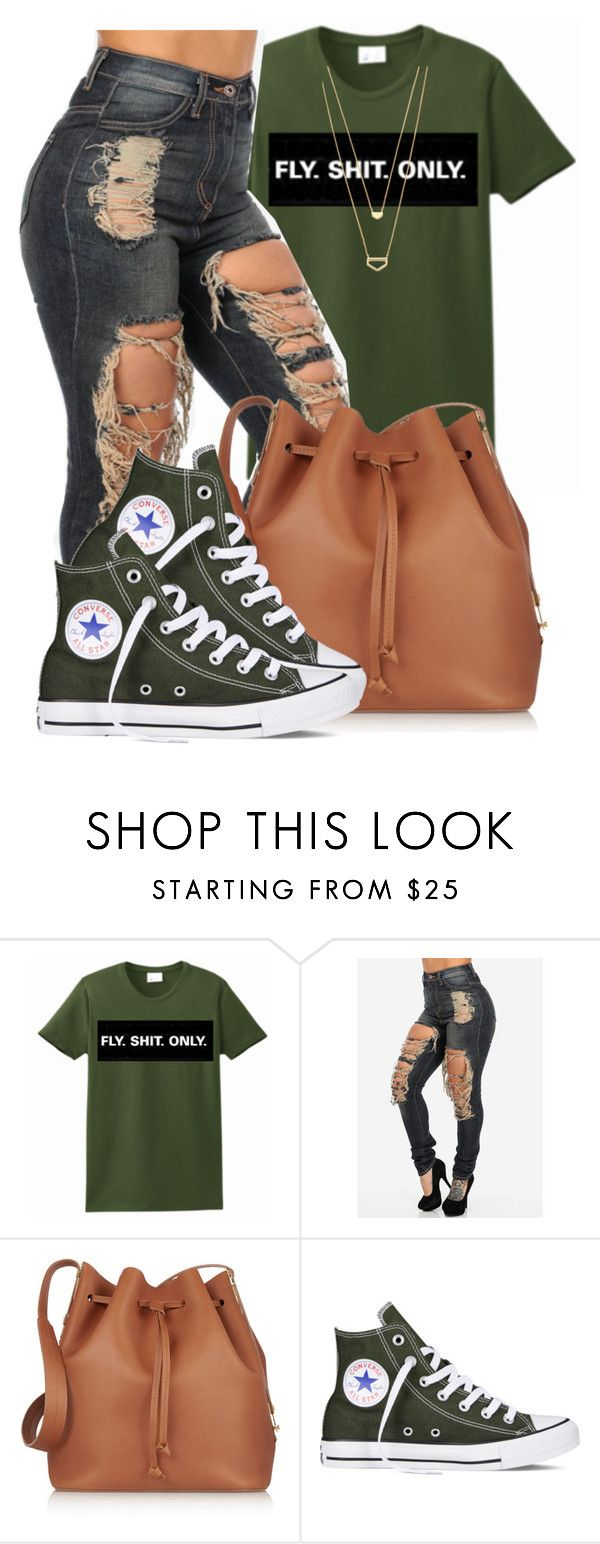 I keep Mascara in my Pocket,if I run into the Market.Cause you neva know Who's watching You by bria-myell on Polyvore featuring Converse, Sophie Hulme and Gorjana