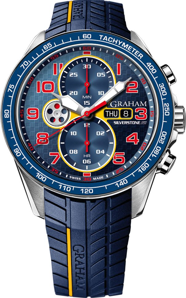 Graham Watch Silverstone RS Racing Pre-Order #basel-15 #bezel-fixed #bracelet-strap-rubber