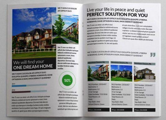 1214 best brochure pamphlet designs images on pinterest for Real estate brochure design inspiration
