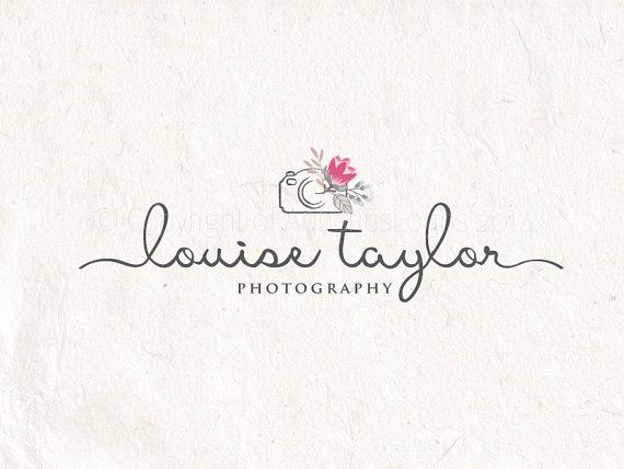 Photography logo premade logo design flower by AquariusLogos