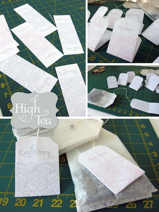 High Tea Party: Tags, Invitations & Thank You cards. {free printables}