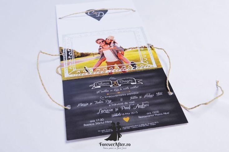 Invitatie de nunta Happiness | Invitatii de nunta by ForeverAfter.ro