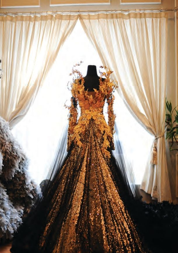 A dress fit for a Samhain Queen or a Fire Goddess... Designs by Tex Saverio #faerie OML LOVE THIS