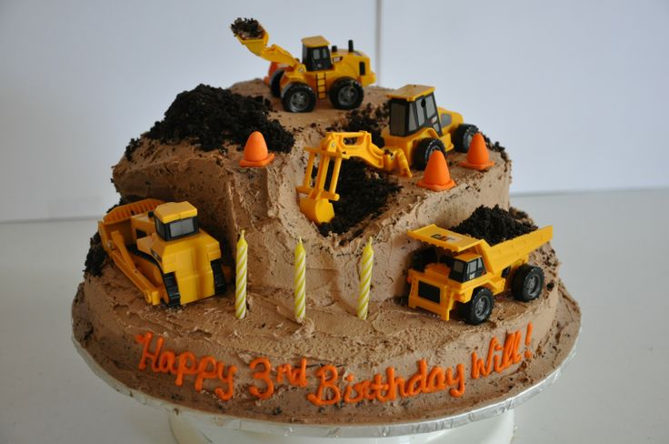 Construction Site Birthday Cakes Images Construction