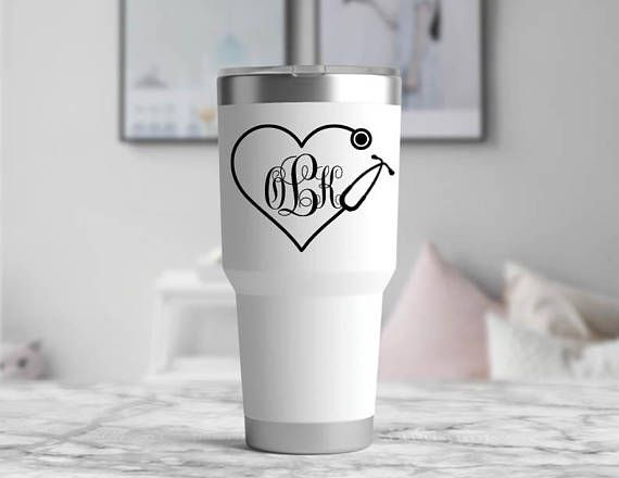 Add this stethoscope heartbeat monitor custom vinyl decal to your coffee mug for a personalized look! Perfect as a gift for a doctor, nurse, or anyone else in the medical profession! Or place it on your Yeti Tumbler, Water Bottle, Car, Notebook, Keurig, or pretty much any surface!