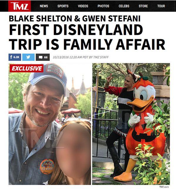 Blake Shelton and Gwen Stefani at Disneyland! Blake Shelton's first time there!  http://teachingssu.blogspot.bg/2016/10/gwen-stefani-and-blake-shelton-at.html
