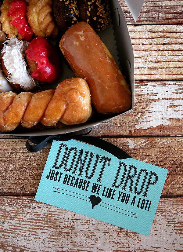 Donut Drop Surprise Gift Idea