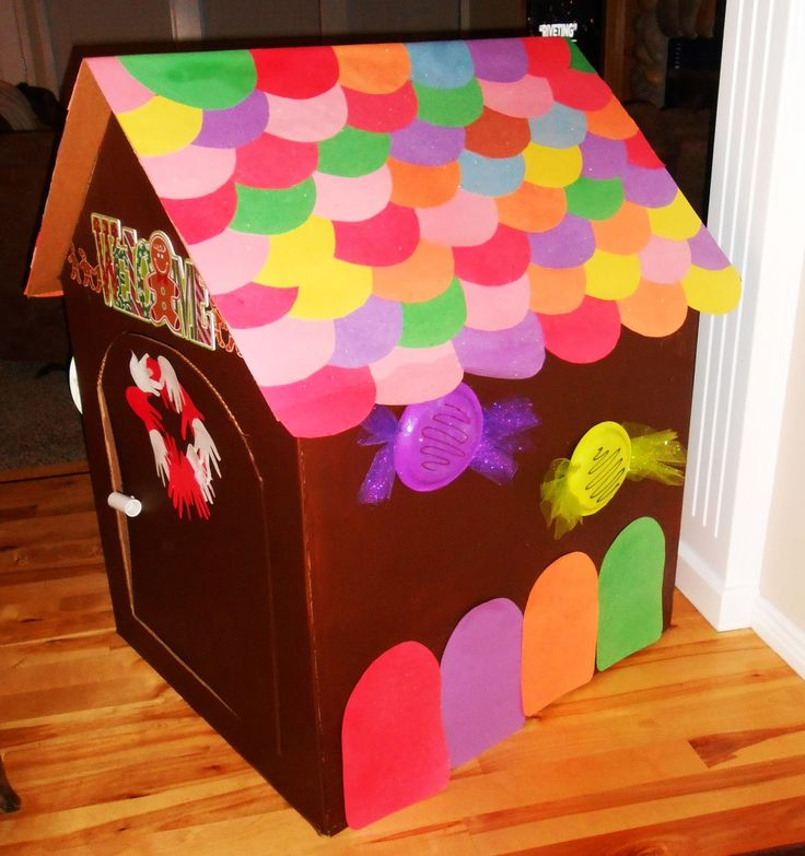 29 Best Kid's Crafts Cardboard Gingerbread House Images On