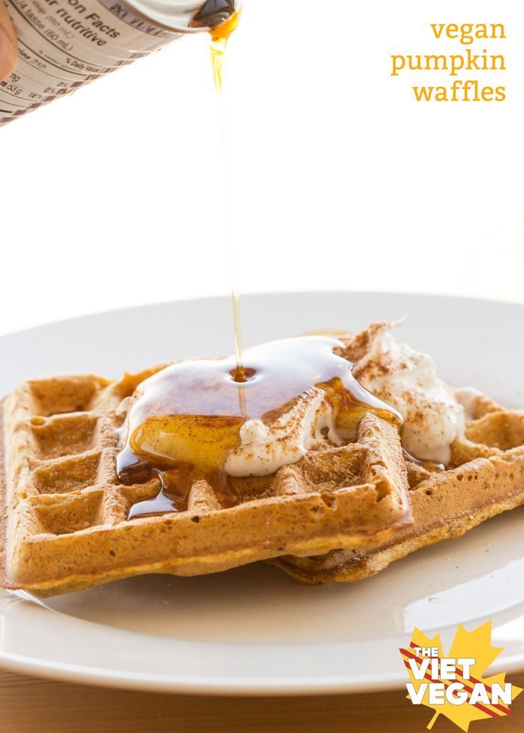 Vegan pumpkin waffles are a perfect way to start off your morning Crisp on the outside, fluffy on the inside, a perfect vessel for maple syrup… What's not to love? This past weekend was Thanksgiving in Canada, and in recent events, there were a few things that have made me re-evaluate my life and made …