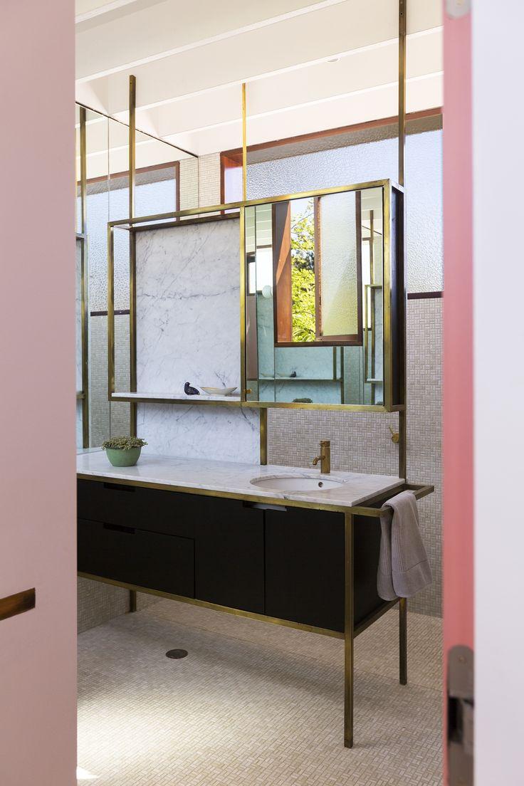 Brass / tile / pink