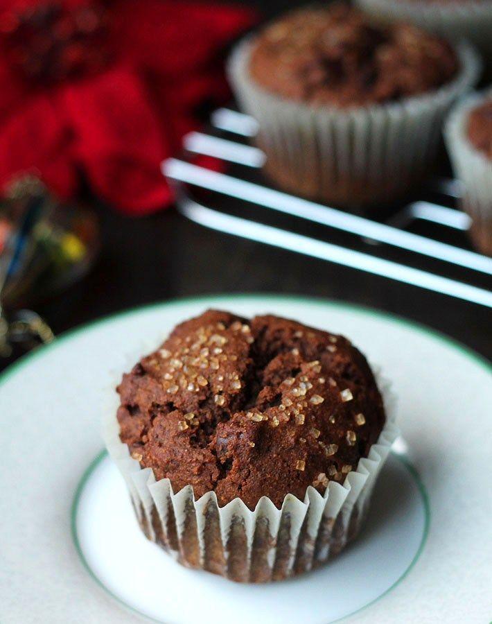 Vegan Gluten-Free Gingerbread Muffins