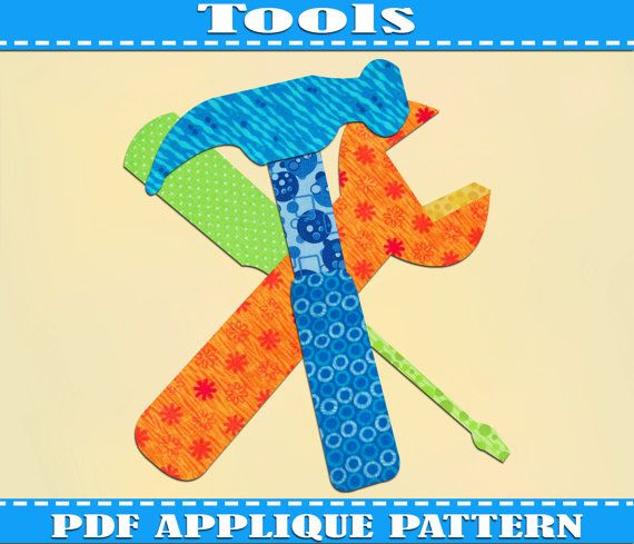Tools Applique Pattern Template Hammer Pdf Download