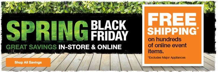 The Home Depot Canada Spring Black Friday Sale: Save on Appliances Tools & Much More  FREE Shipping on Many Items http://www.lavahotdeals.com/ca/cheap/home-depot-canada-spring-black-friday-sale-save/187253?utm_source=pinterest&utm_medium=rss&utm_campaign=at_lavahotdeals