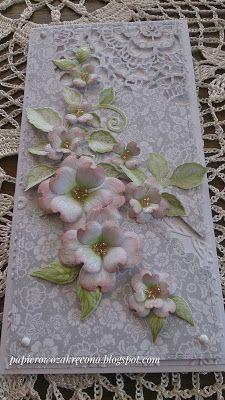 Papierowo zakręcona    : Kwiat derenia