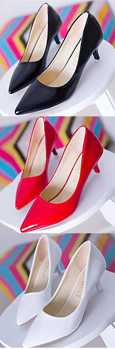Are you scared and tired from heights? Take a break with this short heels with pointed toe. Totally stylish right?