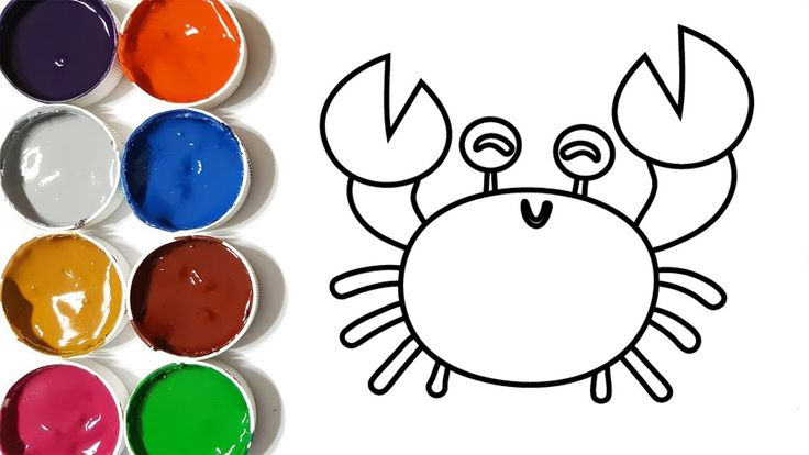 How to Draw A Crab | Coloring Pages | Drawing for Kids | Learn Colors wi...