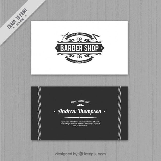 cartão de loja elegante barbeiro