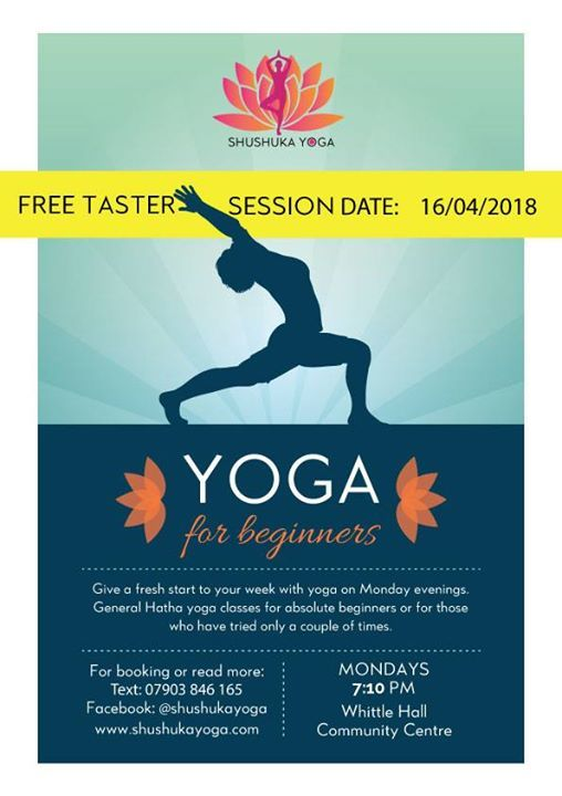 sample poster for free taster session yoga class