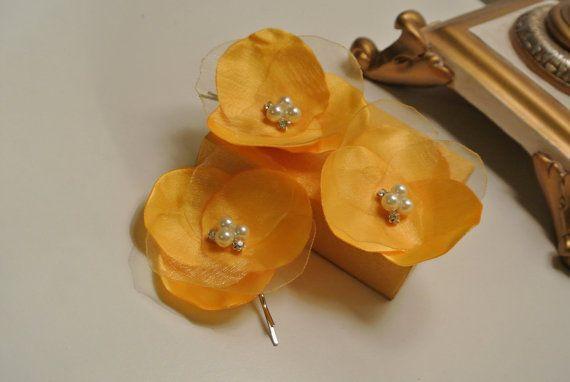 Ivoor oranje bloem haar pinnen bruiloft haar bloem bruiloft