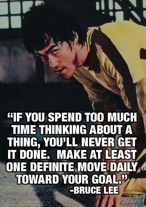 What are you going to do today? #BruceLee #quotes