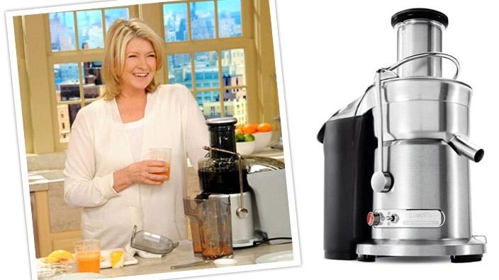 Breville Die-Cast Hemisphere™ Elite Juicer / Martha Stewart - Favorite Green Drink Recipe.