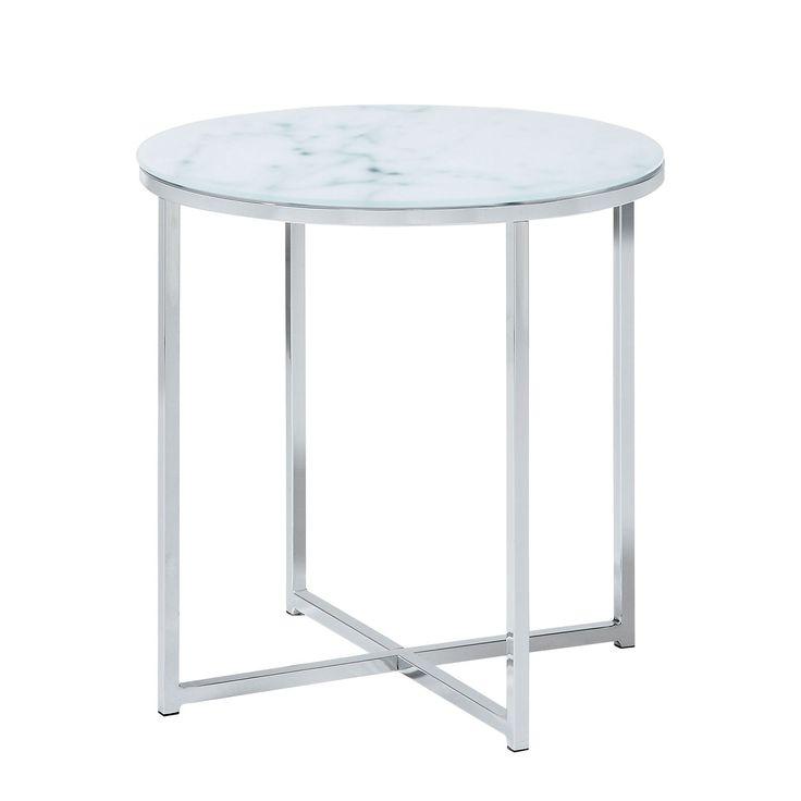 Die besten 25 marmortisch ideen auf pinterest marmor tisch marmortische und marmor beistelltisch Beistelltisch glas chrom