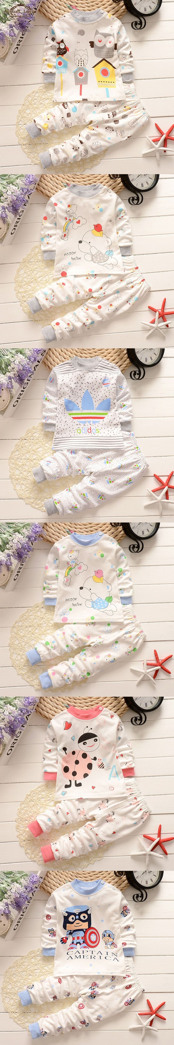 New Fall Winter Cotton Baby Boy Clothing Long sleeve T shirt+Pants Infant Boys Sets Kids Clothes Tracksuits for Newborn Chidlren $12.89