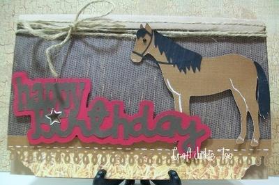 Birthday Card for a horse loverHors Cards, Horses Cards, 40Th Birthday, Birthday Cards, Hors Parties, Cards Crafts, Card Crafts, Hors Birthday, Cricut Hors