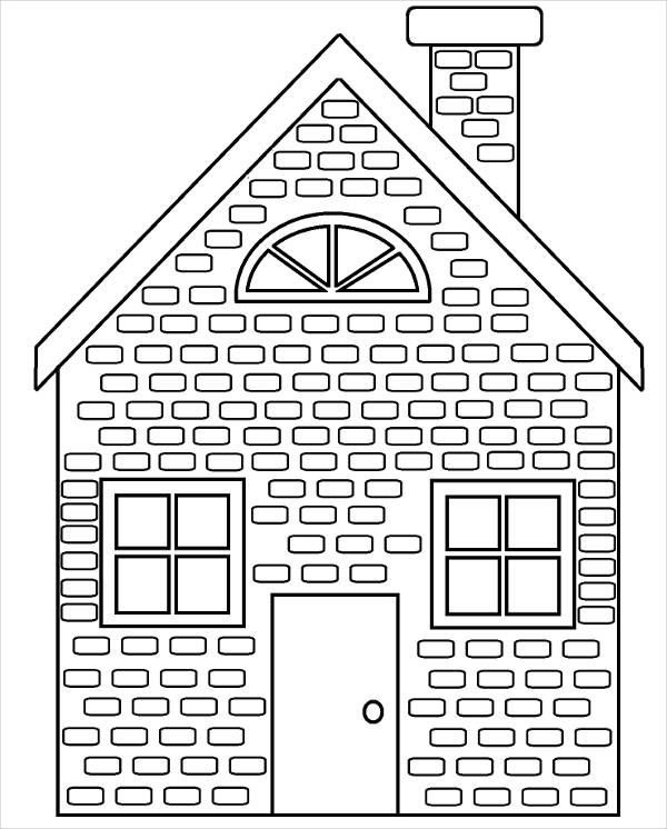 9 House Coloring Pages Jpg Ai Illustrator Download House Colouring Pages Coloring Pages Three Little Pigs