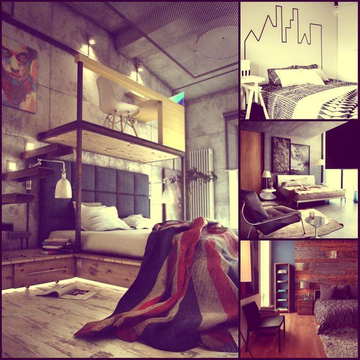 Оригинальные спальные комнаты.