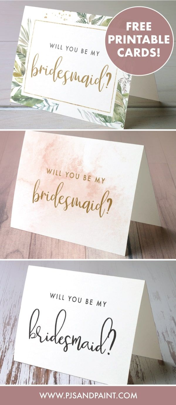 Free Printable Will You Be My Bridesmaid Cards Volume 2 Pjs And Paint Bridesmaid Proposal Cards Bridesmaid Cards Bridesmaid Thank You Cards
