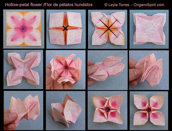 Easy origami flower with one piece of paper juvecenitdelacabrera easy origami flower with one piece of paper mightylinksfo