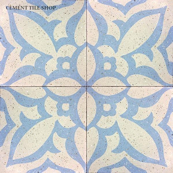 Cement Tile Shop - Handmade Terrazzo Cement Tile   Zebra