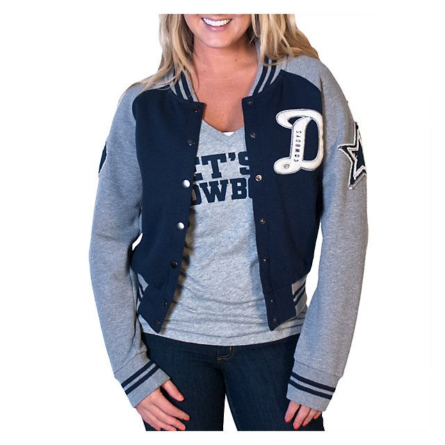 Dallas Cowboys Womens Grenadiers Letter Jacket | Outerwear | Other | Womens | Cowboys Catalog | ShopCowboys
