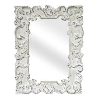 Check out the Legion Furniture LF1237AWH Traditional Wall Mirror in Antique White priced at $210.89 at Homeclick.com.