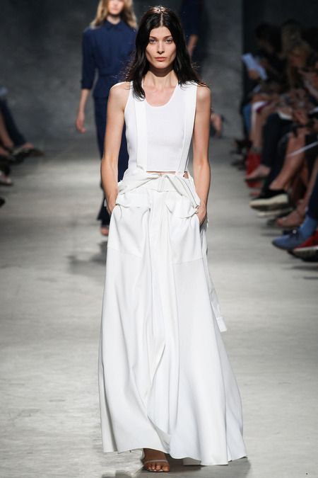 Felipe Oliveira Baptista Spring 2014 Ready-to-Wear Collection #Paris #PFW #RTW #SS14 #fashion #style #show #runway #models #trends #white #maxi #skirt #pure #rigor
