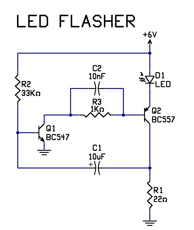 led circuit led flasher circuit