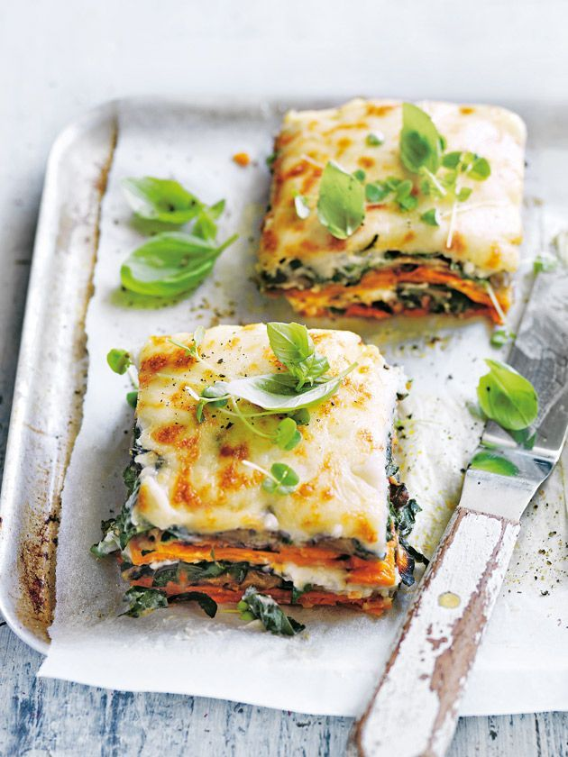 Sweet potato, eggplant and cauliflower béchamel lasagne