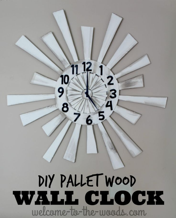 An amazing pallet wood wall clock diy tutorial. I want to make something like this!