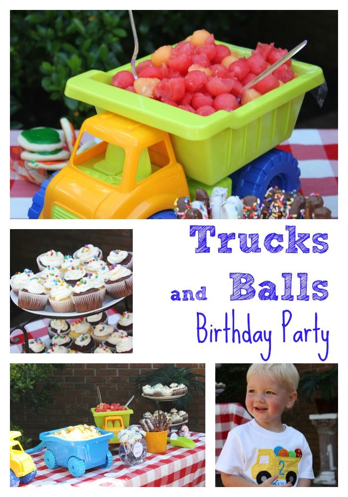 Trucks and Balls Birthday Party