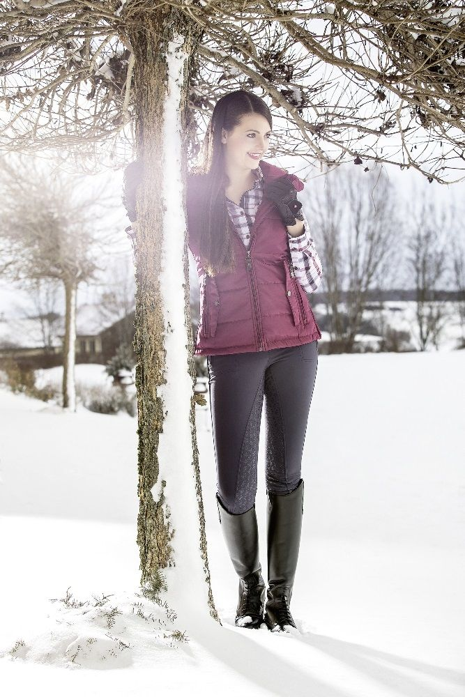 Stay on trend this Winter with this gorgeous Lauria Garrelli Waistcoat in Wine Red! #hot #gilet #waistcoat #lauriagarrelli #loftyequestrian #winter