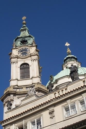 Picture - Tower of the church of St Nicholas in Prague. | PlanetWare