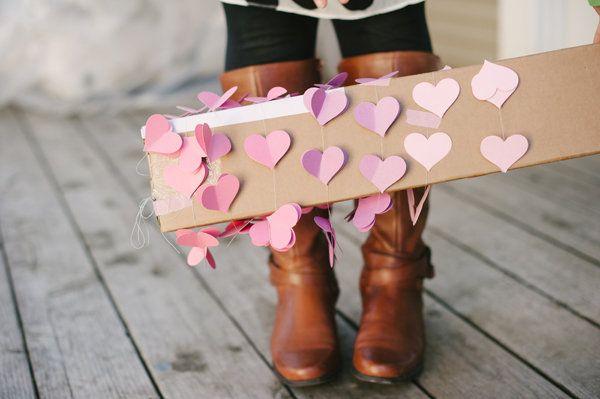 Noiva Esposa Mãe: DIY (Faça você mesmo): Guirlanda de corações 3D!