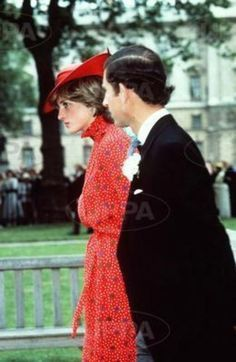 June 4, 1981: Prince Charles & Lady Diana Spencer at the wedding of friend, Lord Nicholas Soames and Catherine Weatherall.