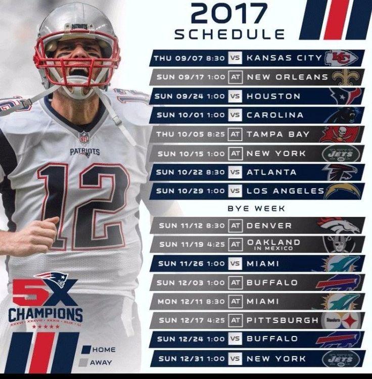 patriots schedule - photo #16